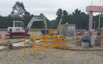 Obra de instalación de una EDAR en Estación de servicio en Salnés (Pontevedra)