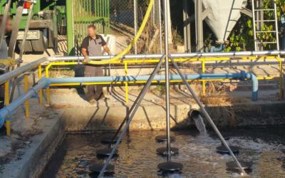 Instalación de difusores para conseguir mayor oxigenación en la instalación. Madrid