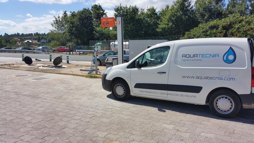 Obra de instalación de una EDAR en Estación de servicio en Teo (La Coruña)