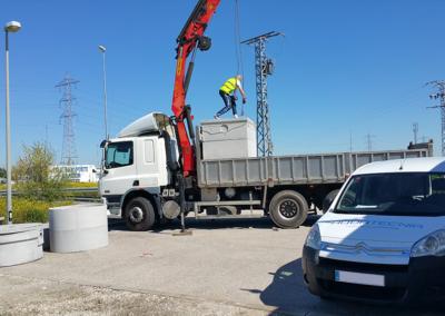 Obra de instalación de una EDAR en estación de servicio en Pinto (Madrid)