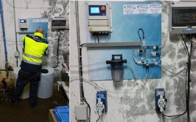Aquatecnia instala panel de cloro en Estación de Servicio
