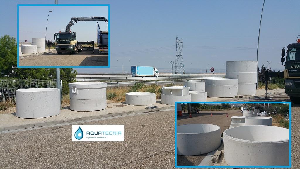 Preparando instalacion de EDAR biológica en la provincia de Zaragoza
